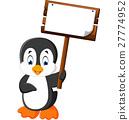 Cute penguin cartoon 27774952