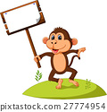 cute monkey cartoon 27774954