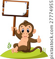 cute monkey cartoon 27774955