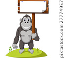 Funny gorilla cartoon 27774957
