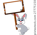 Cartoon happy rabbit 27775150