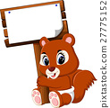 Cartoon funny squirrel 27775152