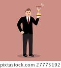 Businessman holding sandglass 27775192