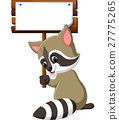 Cute raccoon cartoon 27775265