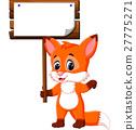 Cute fox cartoon 27775271