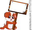 Cute dog cartoon 27775272