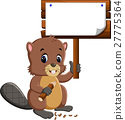 Cartoon beaver 27775364