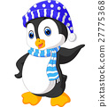 Cute penguin cartoon 27775368