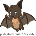 Bat cartoon flying 27775663