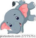 Cute elephant cartoon 27775751
