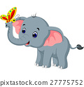 Cute elephant cartoon 27775752