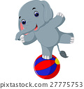 Cute elephant cartoon 27775753