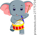 Cute elephant cartoon 27775754