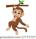monkey, cartoon, tree 27775757