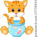 Kitten Fishing for Gold Fish 27776033