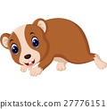 Cute hamster waving hand 27776151