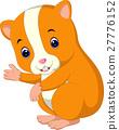 Cute hamster waving hand 27776152
