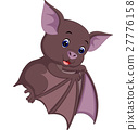 Cute bat cartoon 27776158
