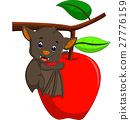 Cute bat cartoon 27776159