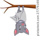 Cute bat cartoon sleeping 27776160