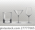 Set of glasses for alcohol in a realistic style 27777065