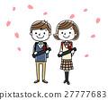 졸업식 이미지 : 남자와 여자 27777683