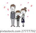 卒業式イメージ:両親と男の子 27777702