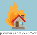 House with Fire Vector Illustration 27782520