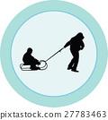 sled, kid, play 27783463