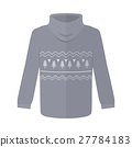Sweater or Jumper with Fir Tree Icons Isolated 27784183