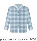 Checkered Grey Shirt Flat Style Vector 27784251