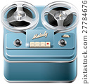 Reel-to-reel audio tape recorder icon 27784676