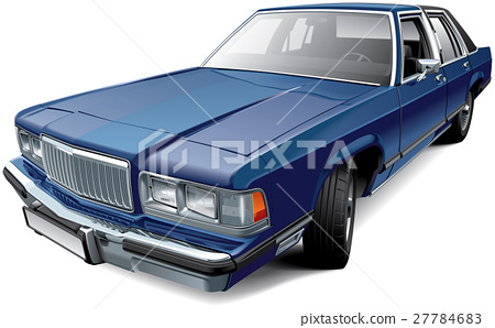 Vintage American full-size luxury sedan 27784683