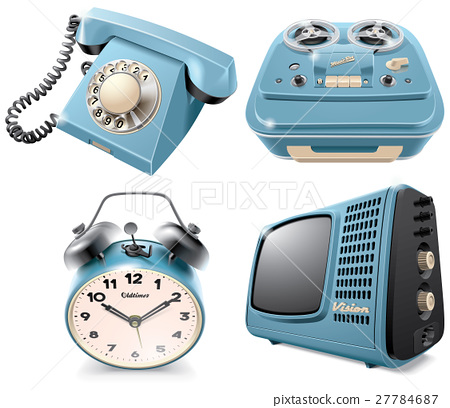 Vintage objects icons 27784687