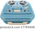 Vintage reel-to-reel audio tape recorder 27784688