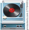 Vintage turntable icon 27784691