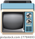 Vintage TV set icon 27784693