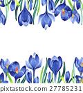 watercolor, wildflower, crocuses 27785231