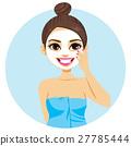 Latina Woman Facial Mask 27785444