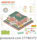 isometric, school, vector 27786372