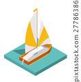 yacht, vector, 3d 27786386