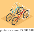 isometric, bicycle, vector 27786388