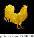 Vector Illustration of Godlen Fire Rooster, Symbol 27786688