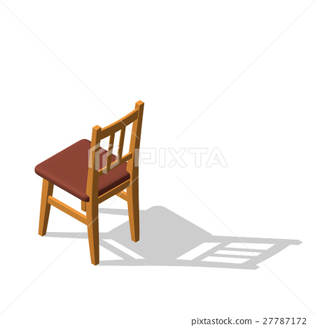 Chair.Isolated on white. 3d Vector illustration. 27787172
