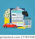 Car insurance form concept 27787498