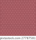 valentine pink heart vector pattern background 27787581