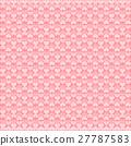valentine pink heart vector pattern background 27787583