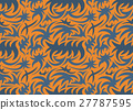 Abstract seamless organic pattern. vector 27787595