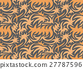 Abstract seamless organic pattern. vector 27787596