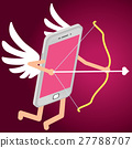 Cupid in the form of smartphones 27788707